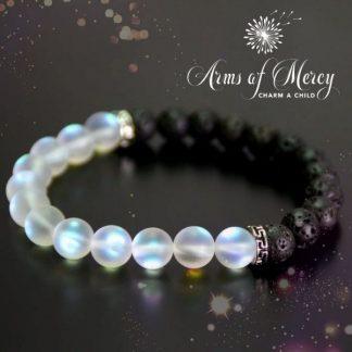 Black Lava and Moonstone Bracelet © Arms of Mercy NPC