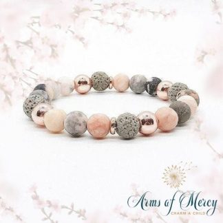 Peach and Grey Precious Stone Bracelet © Arms of Mercy NPC