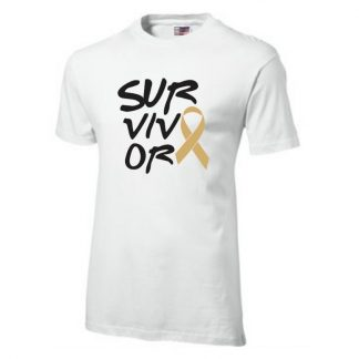 Survivor - White Unisex Crew Neck T-Shirt © Arms of Mercy NPC