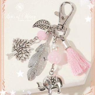 Elephant and Tree Charm Key Chain © Arms of Mercy NPC