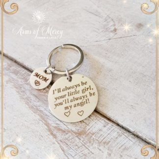 Mom Slogan Design Round Charms Stainless Steel Key Ring © Arms of Mercy NPC